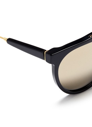 Detail View - Click To Enlarge - SUPER - 'Giaguaro' metal bridge acetate sunglasses