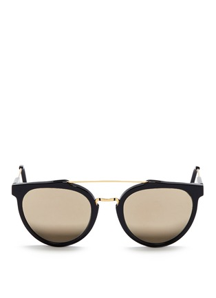 Main View - Click To Enlarge - SUPER - 'Giaguaro' metal bridge acetate sunglasses