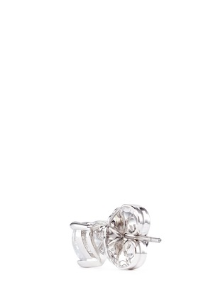 Detail View - Click To Enlarge - CZ by Kenneth Jay Lane - Heart cubic zirconia stud earrings