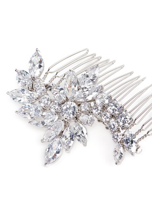 Detail View - Click To Enlarge - CZ by Kenneth Jay Lane - Floral cubic zirconia hair comb