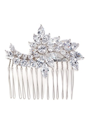 Main View - Click To Enlarge - CZ by Kenneth Jay Lane - Floral cubic zirconia hair comb