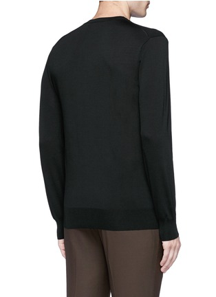 Back View - Click To Enlarge - Neil Barrett - Camouflage ottoman knit sweater