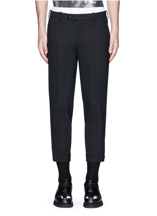 Main View - Click To Enlarge - Neil Barrett - Adjustable zip cuff bistretch gabardine pants