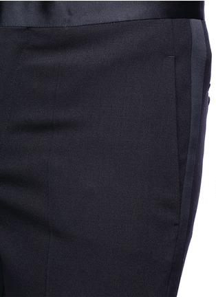 Detail View - Click To Enlarge - Neil Barrett - Satin tuxedo stripe virgin wool pants
