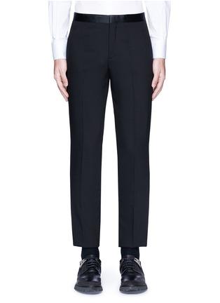 Main View - Click To Enlarge - Neil Barrett - Satin tuxedo stripe virgin wool pants