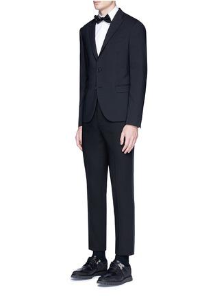 Figure View - Click To Enlarge - Neil Barrett - Satin tuxedo stripe virgin wool pants