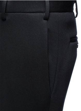 Detail View - Click To Enlarge - Neil Barrett - Zip cuff bonded jersey tailored pants