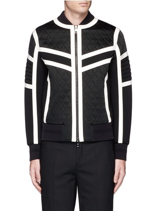 Main View - Click To Enlarge - Neil Barrett - Contrast trim quilted bomber jacket