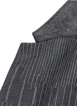 Detail View - Click To Enlarge - Neil Barrett - Slim fit camouflage pinstripe blazer