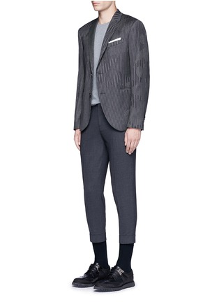 Figure View - Click To Enlarge - Neil Barrett - Slim fit camouflage pinstripe blazer