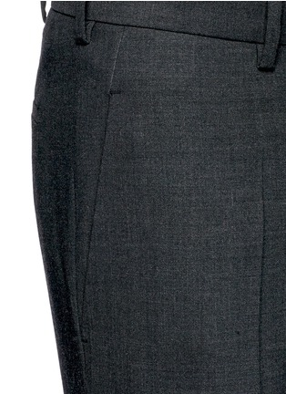 Detail View - Click To Enlarge - Neil Barrett - Zip cuff bistretch gabardine cropped pants