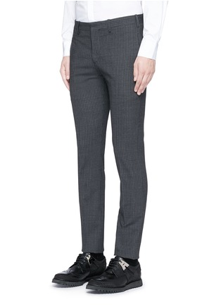 Detail View - Click To Enlarge - NEIL BARRETT - Skinny fit pinstripe stretch wool suit