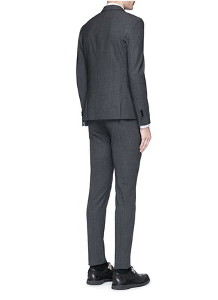 Back View - Click To Enlarge - NEIL BARRETT - Skinny fit pinstripe stretch wool suit
