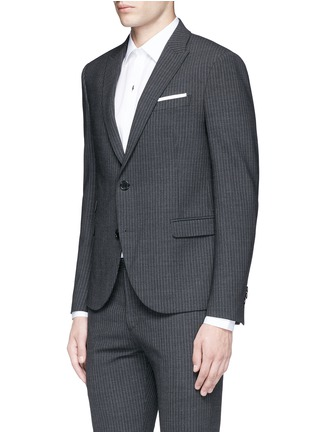 Front View - Click To Enlarge - NEIL BARRETT - Skinny fit pinstripe stretch wool suit
