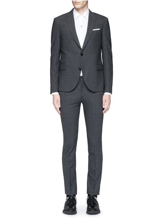 Main View - Click To Enlarge - Neil Barrett - Skinny fit pinstripe stretch wool suit
