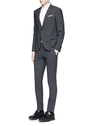 Figure View - Click To Enlarge - Neil Barrett - Skinny fit pinstripe stretch wool suit
