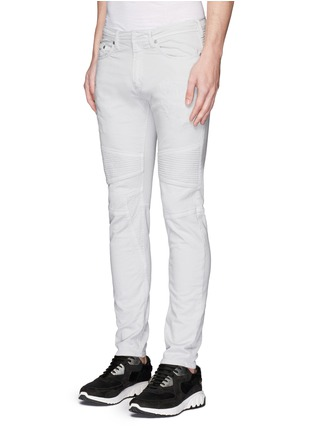 Front View - Click To Enlarge - Neil Barrett - Skinny fit distressed biker jeans