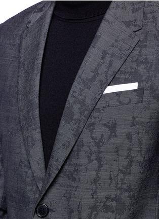 Detail View - Click To Enlarge - Neil Barrett - Slim fit camouflage jacquard blazer