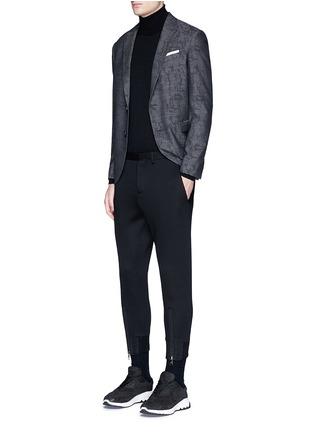 Figure View - Click To Enlarge - Neil Barrett - Slim fit camouflage jacquard blazer