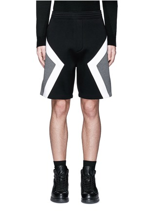 Main View - Click To Enlarge - Neil Barrett - 'Modernist' colourblock bonded jersey shorts