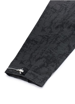 Detail View - Click To Enlarge - Neil Barrett - Camouflage jacquard cropped virgin wool pants