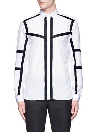 Main View - Click To Enlarge - Neil Barrett - Contrast stripe cotton poplin shirt