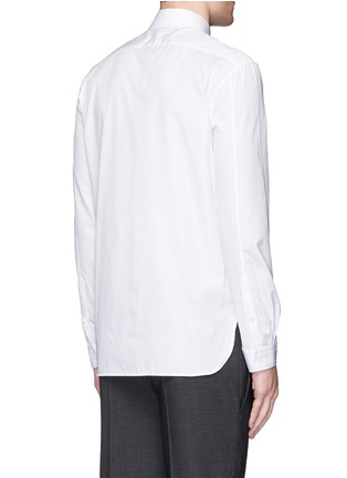 Back View - Click To Enlarge - Neil Barrett - Thunderbolt print collar poplin shirt