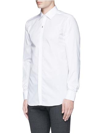 Front View - Click To Enlarge - Neil Barrett - Thunderbolt pin tuxedo shirt