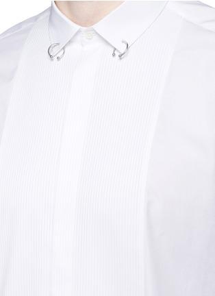 Detail View - Click To Enlarge - Neil Barrett - Ring collar bib front tuxedo shirt