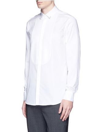 Front View - Click To Enlarge - Neil Barrett - Ring collar bib front tuxedo shirt
