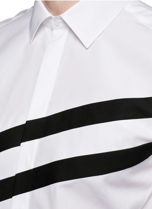 Detail View - Click To Enlarge - Neil Barrett - Diagonal stripe poplin tuxedo shirt