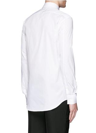 Back View - Click To Enlarge - Neil Barrett - Diagonal stripe poplin tuxedo shirt