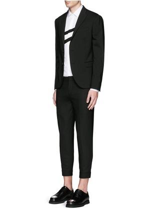 Figure View - Click To Enlarge - Neil Barrett - Diagonal stripe poplin tuxedo shirt