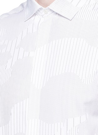 Detail View - Click To Enlarge - Neil Barrett - Camouflage pinstripe shirt