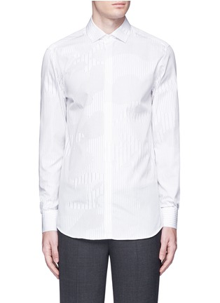 Main View - Click To Enlarge - Neil Barrett - Camouflage pinstripe shirt