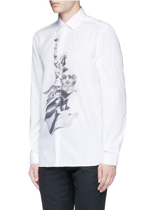 Front View - Click To Enlarge - Neil Barrett - 'Liberty President' print shirt