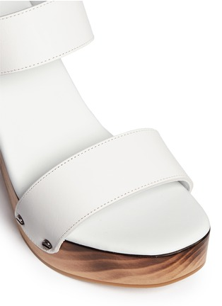 Detail View - Click To Enlarge - Vince - 'Solange' wooden clog heel leather sandals