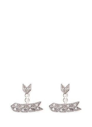 Main View - Click To Enlarge - Kenneth Jay Lane - Crystal pavé arrow jacket earrings