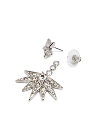 Detail View - Click To Enlarge - Kenneth Jay Lane - Crystal pavé starburst jacket earrings