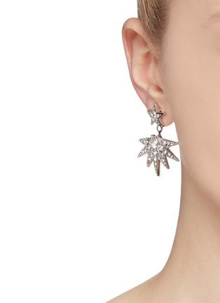 Figure View - Click To Enlarge - Kenneth Jay Lane - Crystal pavé starburst jacket earrings
