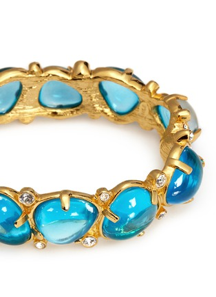 Detail View - Click To Enlarge - Kenneth Jay Lane - Teardrop cabochon hinge bangle