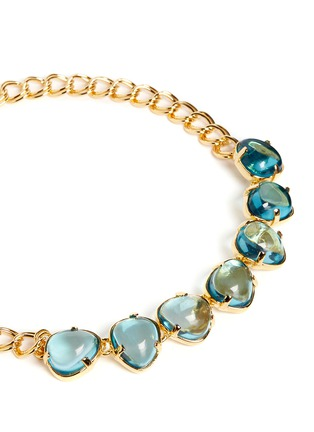 Detail View - Click To Enlarge - Kenneth Jay Lane - Teardrop cabochon gold plated necklace