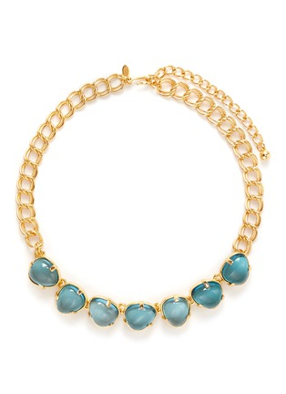 Main View - Click To Enlarge - Kenneth Jay Lane - Teardrop cabochon gold plated necklace