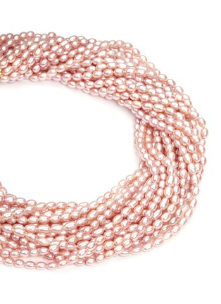 Detail View - Click To Enlarge - Kenneth Jay Lane - Multi strand baroque pearl necklace