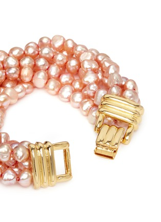 Detail View - Click To Enlarge - Kenneth Jay Lane - Multi strand baroque pearl bracelet
