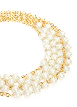 Detail View - Click To Enlarge - Kenneth Jay Lane - Multi chain glass pearl necklace