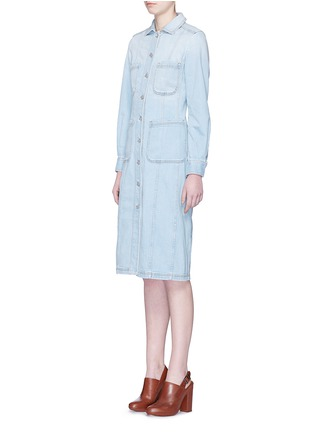 Front View - Click To Enlarge - Stella McCartney - Washed cotton denim dress