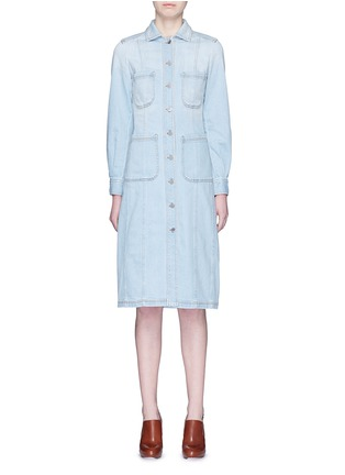 Main View - Click To Enlarge - Stella McCartney - Washed cotton denim dress