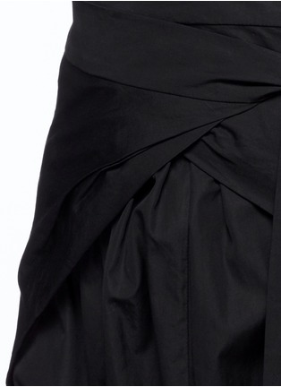 Detail View - Click To Enlarge - Isabel Marant - 'Mander' wraparound waist poplin harem pants