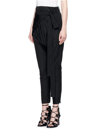 Front View - Click To Enlarge - Isabel Marant - 'Mander' wraparound waist poplin harem pants